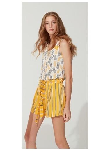 Feyza Pijama Takım Sarı